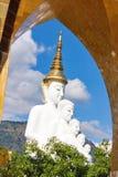 Cinq Bouddha sur le ciel bleu images libres de droits