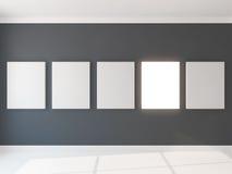 Cinq cadres de lite sur le grau Photo stock