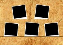 Cinq cadres de photo Images stock