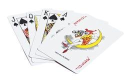 Cinq cartes jouantes Image libre de droits