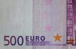 Cinq centaines 500 euro billets de banque Photo libre de droits