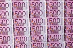 Cinq cents euro billets de banque Photographie stock libre de droits