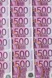 Cinq cents euro billets de banque Photos libres de droits