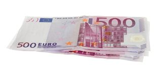 Cinq cents euro factures Photographie stock