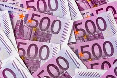 Cinq cents euro notes Images libres de droits