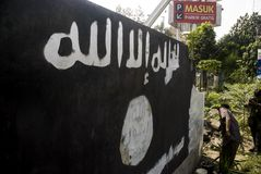 CINQ CENTS INDONÉSIENS JOIGNENT ISIS Photo libre de droits