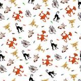 Cinq chatons émotifs mignons illustration libre de droits