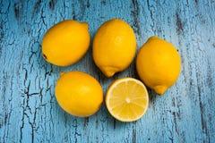 Cinq citrons photos libres de droits