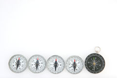Cinq compas Images libres de droits