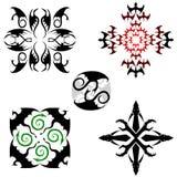 Cinq configurations de dragon Images stock