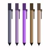 Cinq crayons lecteurs Image stock