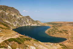 Cinq des sept lacs mountain de Rila Image libre de droits