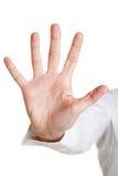 Cinq doigts d'une main photos stock