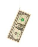 Cinq dollars sur l'hameçon Images libres de droits