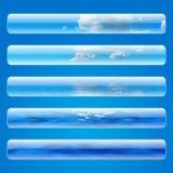 Cinq drapeaux de Web de ciel illustration stock