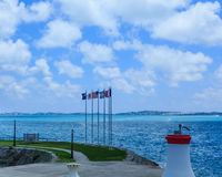 Cinq drapeaux sur les Bermudes Image stock