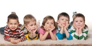 Cinq enfants Image stock