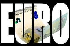 Cinq euros photo libre de droits