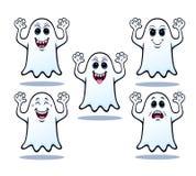 Cinq fantômes de Halloween Photographie stock libre de droits