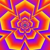 Cinq formes rougeoyantes dirigées Image stock