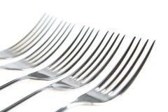 Cinq fourchettes Photo libre de droits
