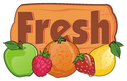Cinq fruits frais Photographie stock libre de droits