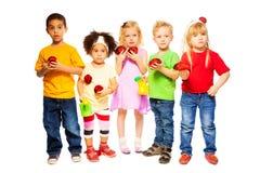 Enfants d'équipe de ressort Image libre de droits