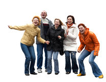 Cinq gens expressifs Image libre de droits