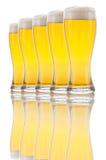 Cinq glaces de bière photos stock