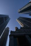 Cinq gratte-ciel Image libre de droits