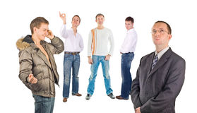 Cinq hommes photo libre de droits