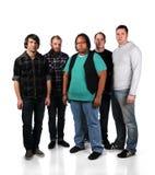 Cinq jeunes hommes Photo libre de droits