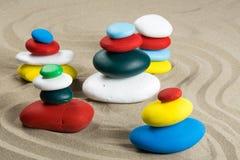 Cinq kerns multicolores images stock