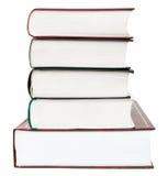 Cinq livres dans la pile, d'isolement Photographie stock libre de droits