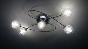 Cinq lumières - lustre Images stock