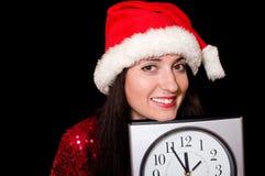 Cinq minutes labourent la nouvelle année Photos stock