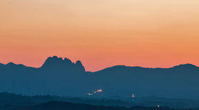 Cinq montagnes de doigts Image stock