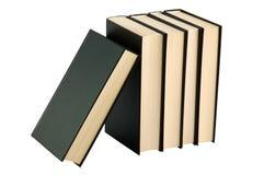 Cinq ont fermé les livres noirs Photographie stock libre de droits