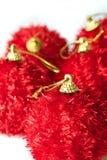 Cinq ornements de Noël Photographie stock libre de droits