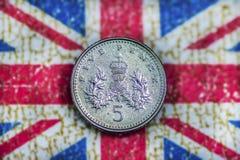 Cinq penny Photos stock