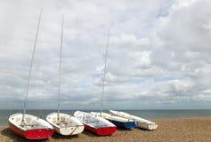 Cinq petits yachts Image libre de droits