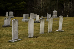 Cinq pierres tombales Image stock