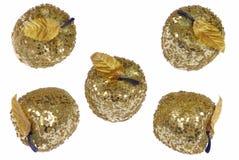 Cinq pommes d'or Photo libre de droits