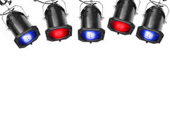 Cinq projecteurs Image stock