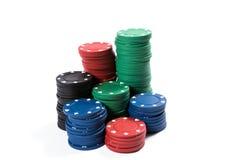 Cinq puces de tisonnier colorées Photo libre de droits