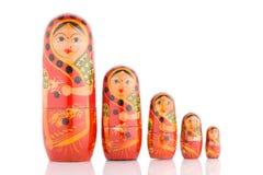 Cinq rouge Babushka images stock