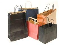 Cinq sacs à faire des emplettes Images libres de droits