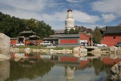 Cinq tours réglées de blanc de montagne Images stock