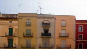 Cinq vieilles constructions colorées Photo libre de droits