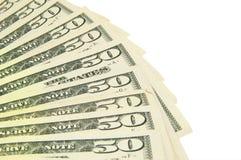 Cinqüênta dólares Imagens de Stock Royalty Free